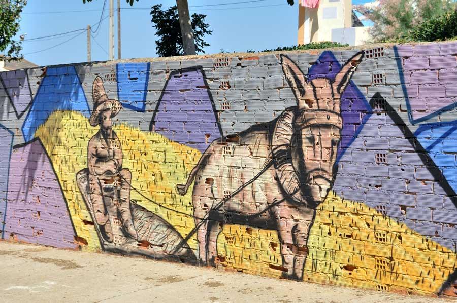 La trilla con burro (Detalle)